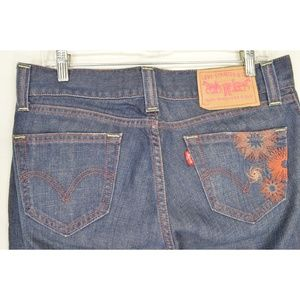 Levi's Jeans - Levi 504 jeans 9 x 32 slouch straight leg dark emb